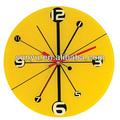 2013 extravagante relógio de parede, amarelo coordenadas padrão, atacado dom de promoção ou decoração de casa