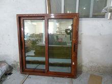 wooden colour thermal break sliding aluminum window