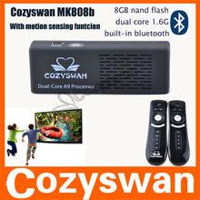 Cozyswan mk808 supporto motion sensing giochi! Google android 4.1 mk808 pc androide 4.1 lettore hdmi