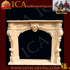 Beige marble fireplace mantel,arts craft fireplace design,big stone fireplace mantel