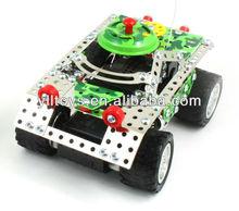 4chdiyสร้างบล็อกโลหะrcรถหุ้มเกราะ( diyของเล่น)