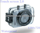 HD AVI waterproof sport touch screen action camera