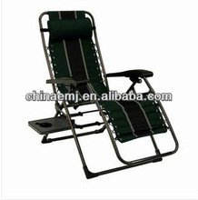 Anti-Gravity Lounge Chair w/ Side Table-Reclines, Folds flat, Patio, Beach, Park