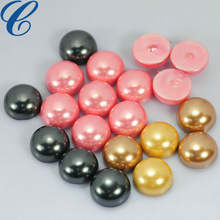 Shiny flat back glass beads