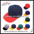 novo em dois tons snapback boné de beisebol chapéu liso básico de cor branco liso projeto