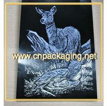 scraper foil, engraving art paper, scratch paper animal flower plant