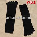 fournir pure black 5 orteil chaussettes chaussettes de coton orteil chaussettes tricotées
