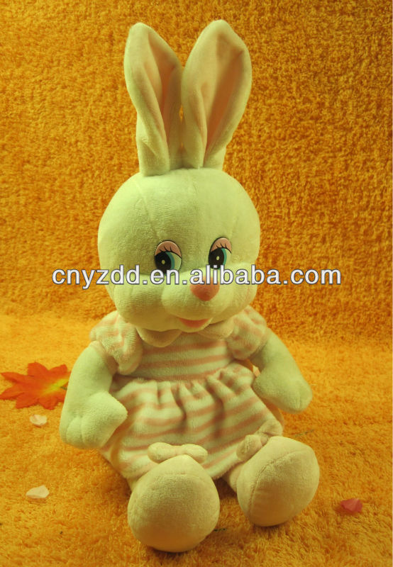 ctue stuffed plush rabbit/bunny toy,children plush toy with big eyes and clothes
