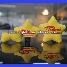 Customize Rubber 3D USB Star