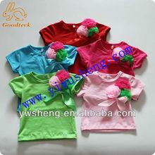 Fashion children plain t-shirt