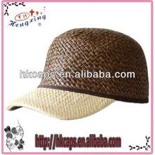 custom design plain straw baseball caps and hat