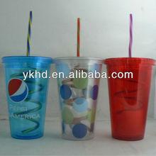 Personalized Acrylic Tumblers w/straw