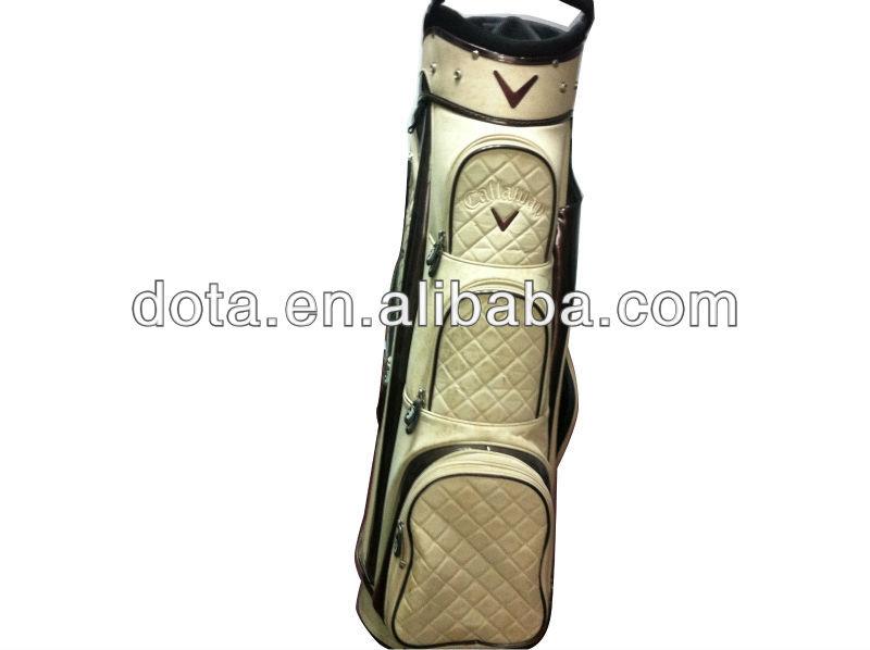 PU leather fashionable integrated golf bag