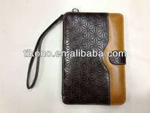 Business sytle Folio Stand Card Slots hand bag leather case cover for mini ipad