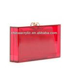acrylic pandora colour box clutch