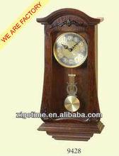wooden pendulum antique wall clock