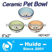 Ceramic Pets Bowls dolomite animal food feeders
