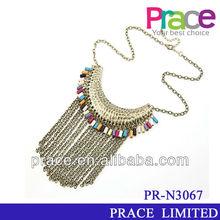simple design hot sale tassles empty cup chain necklace