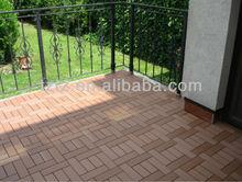 Veranda easy installed composite WPC DIY deck tile
