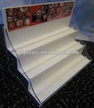 Acrylic cosmetic perfume glass desk display stand