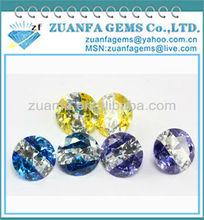 loose multi-colored round cubic zirconia gemstones