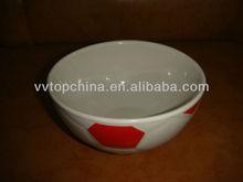 ceramic rice bowl with football design for souvenir
