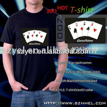 China led t shirt factory supply, poker led flashing products online shopping