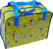 laminated pp woven shopping bag tote zipper pp woven bag promotional shopping bag