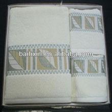 100% bamboo fiber jacquard&embroidery towel