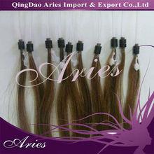 "Micro Ring Loop 100% Human Hair Extensions Remy 18"" AAA (Pre bonded u stick tip)"