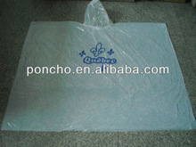 adult's high quality pe waterproof poncho