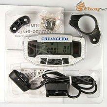 Wholesale Digital LCD Solar Bicycle Odometer Bike Meter Speedometer Clock Stopwatch IP4-093