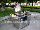 Top-ranking 21 inch ceramic bbq grill with stainless steel cart/table wholesale
