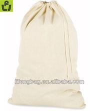 Handmade Drawstring Natural Cotton Laundry Bag