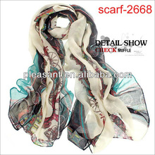 2012 long light weight wholesale infinity scarf pattern