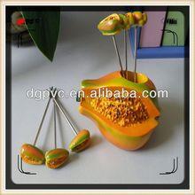 halloween plastic fork ,2013 decoration promotion fruit forks, ceramic fruit salad forks