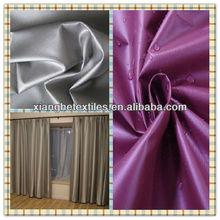 PU coated taffeta yarn fabric textile curtains