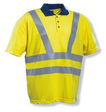 Reflective Polo shirt high visibility Polo shirt Hi-vi fluorescent yellow T-shirt 100% polyester hi vis safety traffic clothing