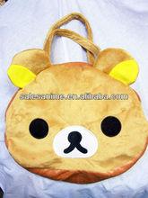 Wholesale Anime Rilakkuma bear Plush Bag Children handbag