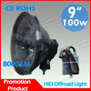 Automobile Offroad HID Driving Lamp,9inch 35w/55w/75w/100w high intensity xenot truck work light