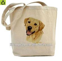 Yellow Labrador Heavyweight Canvas Tote Shopping Bag