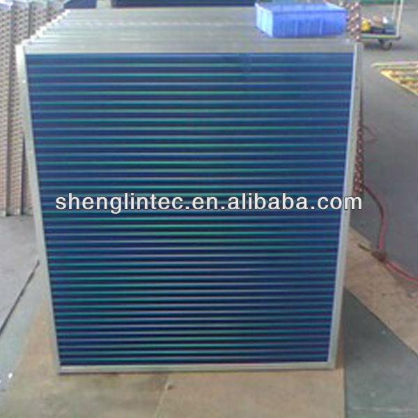 Fin type refrigerator aluminium gas to liquid evaporative condenser