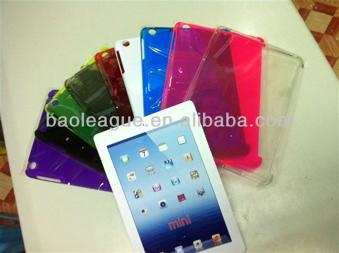 Clear crystal case for ipad mini,smart cover partner