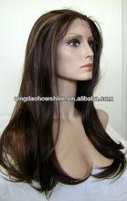 tangle free no shed stock virgin peruvian hair full lace human hair wig