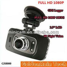 Ambarella GS8000 1080P Full HD Car black box With Motion Detection Night Vision Wide Angle HDMI 5M Camera 2.7 16:9 LCD GPS
