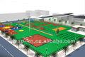 Equipamentos desportivos, quadra de basquete pisos esportivos, pvc revestimento de esportes para basquete tribunal