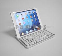 Wireless Aluminum Metal Mobile Wireless Bluetooth Keyboard Cover Case for ipad mini