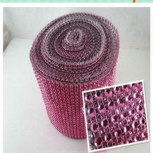 2013 fashion plastic rhinestone mesh trimming for clothing