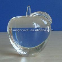beautiful clear crystal glass apple