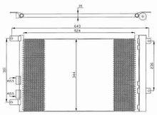 Auto Car AC condenser For Alfa/147,156,GT -- 60668109,60679629